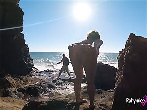 Rahyndee James public beach romping point of view
