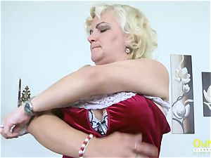 OldNannY Mature blond tempting Solo play