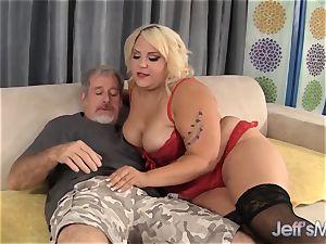 blondie plumper jade Rose taking a meaty manhood