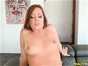 jism gulping hard-on dicksucker Maddy OReilly sits her slit on a enormous dick