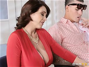 Charlee chase and Eva Karera college office 3some
