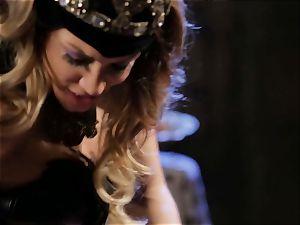 Mean princess Jessica Drake in red-hot nailing parody