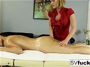 Sarah Vandella girl/girl massage