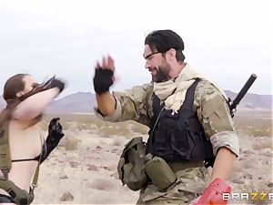 metal Gear Solid five anal invasion porno parody with wild brown-haired Casey Calvert