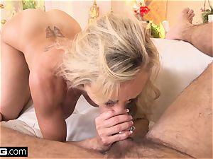 drizzling Brandi enjoy loves having a bone in her snatch