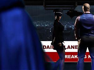 Supergirl Pt trio Bad gal lezzies Riley Steele and Katrina Jade