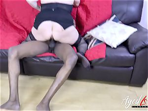 AgedLovE Lacey Starr and ebony guy hard-core