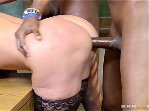 Alena Croft bangs her ebony college girls