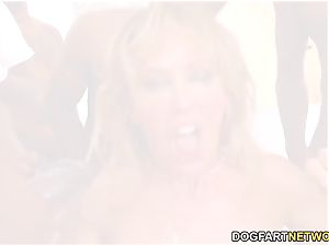 Cherie DeVille Gives bj To A group Of dark-hued dude