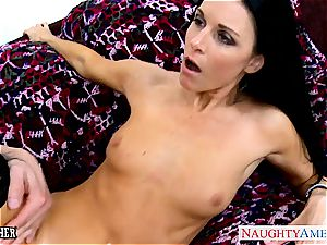 outstanding India Summer in pantyhose sucks trouser snake