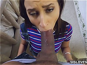 Open minded stepsister Ashley lets her brutha play with her toys and booty