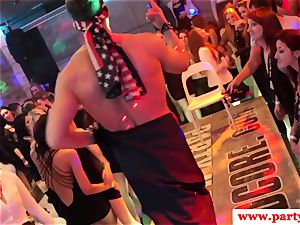 dickblowing european stunner stroking rod at party