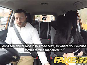 fake Driving school Jasmine Jae totally naked intercourse in car