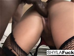 Prince delivers a black man sausage For Shyla