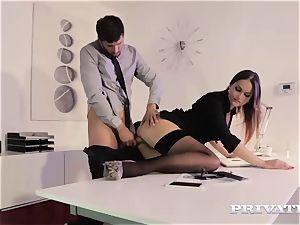 Private.com secretary Barbara Bieber penetrates her chief