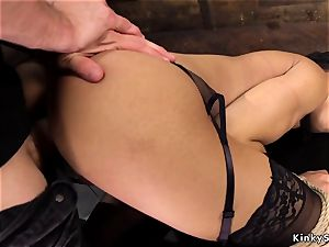 ebony takes gigantic pecker in the butt domination & submission