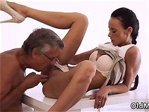 aged granny youthful and mommy teacher soles finally she s got her boss prick