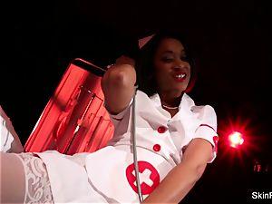 super super-hot nurse skin Diamond gives a fabulous taunt
