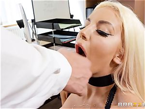 Nicolette Shea gets her concentration tested in this scorching interview