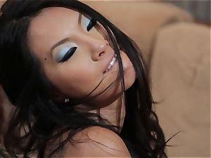 Asa Akira and Jessica Drake nasty 3 way nailing