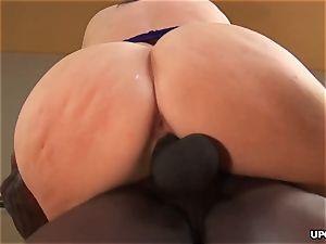 ginormous butt milky girl bounces on ebony salami