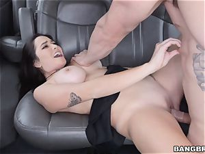 Karlee Grey picked up and plunged on the Bangbus