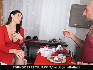audition ALLA ITALIANA - huge-titted black-haired enjoys moist buttfuck