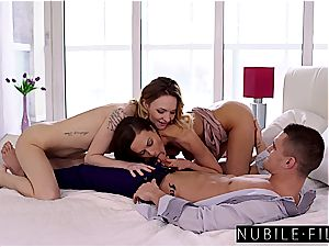 Tina and Belle know how to satiate a fellow