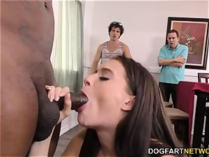 cheating bro and daddy observe Lana Rhoades takes bbc