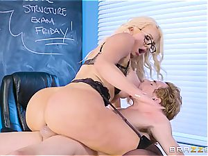whorey teacher Nicolette Shea shagged by a bad schoolgirl