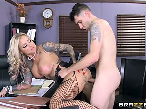 super-steamy Headmistress Britney Shannon gets her arms on a kinky college girl