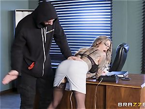 Karma Rx takes cunt fucked in the office