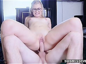 super-hot blondie plays a bad woman at the office and gets spanked