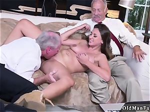elderly chick big titties Ivy amazes with her large jugs and arse