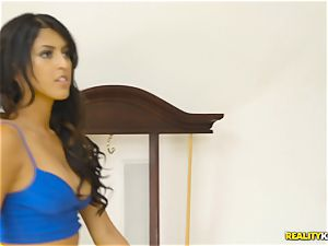 insane real estate agent Sophia Leone plunges a customers meatpipe in her facehole