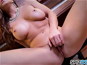 scorching frigging pussy act with the magnificent dark-haired Abigail Mac