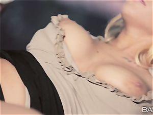fantastic secretary Kyra steamy porks her work fucking partner