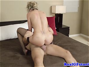 super-hot light-haired housewife mummy boned