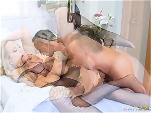 physician catapulting cock deep into Brett Rossi