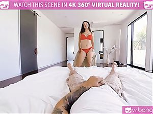 VR pornography - huge-chested Abella Danger audition sofa get wild