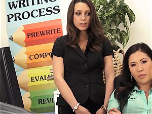 lecturers London Keyes and Jade Nile shag a schoolgirls dad