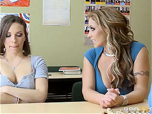 Eva Notty and Lily enjoy screw a schoolteacher