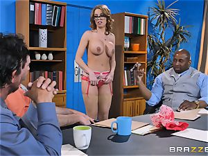 Britney Amber getting group poked