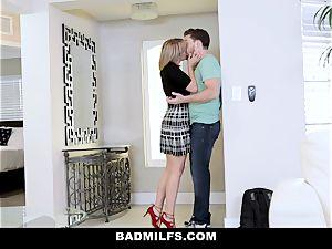 BadMILF - Jealous Stepmom threesome With Stepson And gf