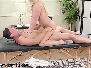 FantasyMassage Bailey Brooke On Top of masseuses man meat!