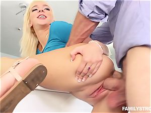 Tiffany Watson inhaling off her step brother