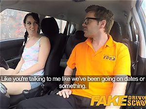 fake Driving school messy internal ejaculation ejaculation