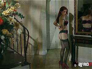 audition ALLA ITALIANA ginger-haired fucked by a black man meat