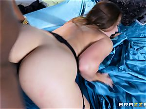 Dani Daniels takes this humungous ebony trunk with relief