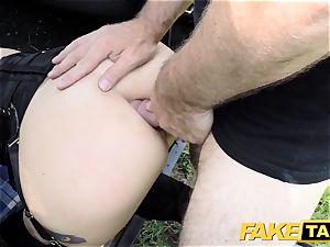 fake taxi Fetish goddess in ebony leather buttfuck internal ejaculation